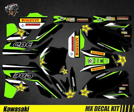 Kit Déco Moto pour / Mx Decal Kit for Kawasaki - Bud