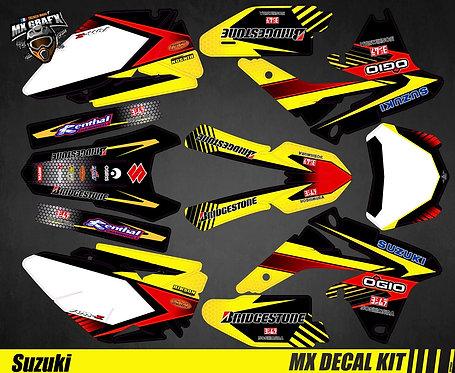 Kit Déco Moto pour / Mx Decal Kit for Suzuki - Yellow_Strip