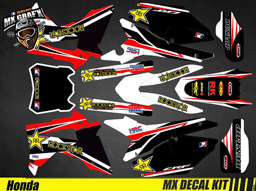 Kit Déco Moto pour / Mx Decal Kit for Honda CR/CRF - Rockstar