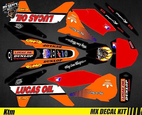 Kit Déco Moto pour / Mx Decal Kit for KTM - Lucas_Oil_Black