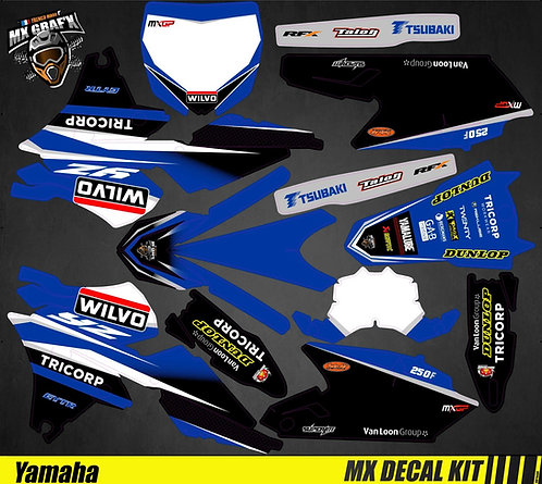 Kit Déco Moto pour / Mx Decal Kit for Yamaha - Wilvo_Replica
