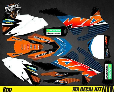Kit Déco Moto pour / Mx Decal Kit for KTM - Blue_Strip