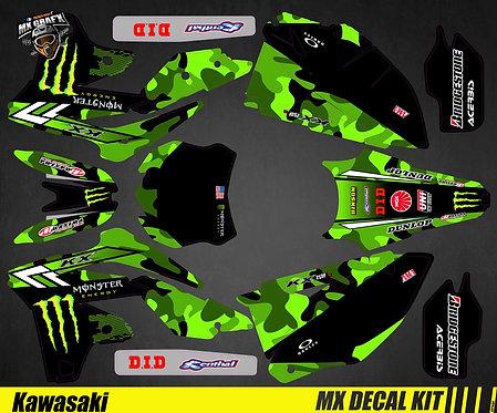 Kit Déco Moto pour / Mx Decal Kit for Kawasaki - Villopoto_Replica_2015