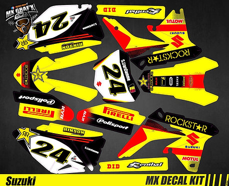 Kit Déco Moto pour / Mx Decal Kit for Suzuki - Rockstar_2