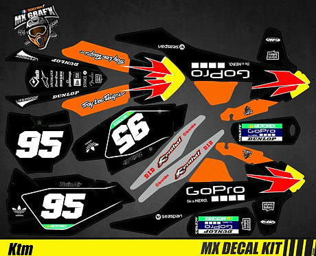 Kit Déco Moto pour / Mx Decal Kit for KTM - GoPro_Black