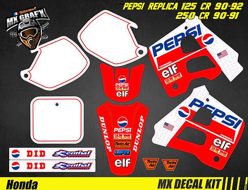Kit Déco Moto pour / Mx Decal Kit for HONDA CR - PEPSI
