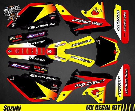 Kit Déco Moto pour / Mx Decal Kit for Suzuki - ProCircuit