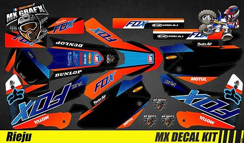 Kit Déco Moto pour / Mx Decal Kit for Rieju - Fox