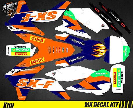 Kit Déco Moto pour / Mx Decal Kit for KTM - SX