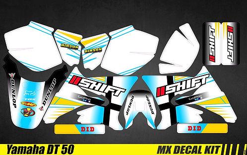 Kit Déco Moto pour / Mx Decal Kit for Yamaha DT 50 - Shift