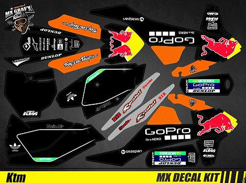 Kit Déco Moto pour / Mx Decal Kit for KTM - GoPro_Black_Edition