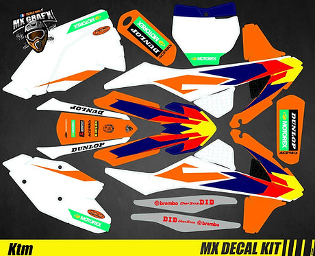 Kit Déco Moto pour / Mx Decal Kit for KTM - Replica_2019