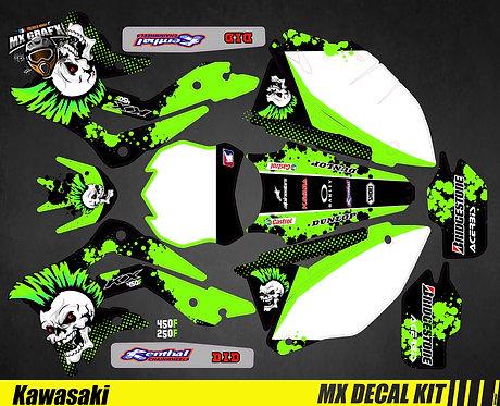 Kit Déco Moto pour / Mx Decal Kit for Kawasaki - Punk_Skull