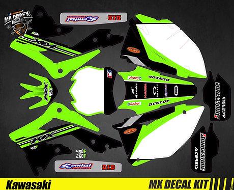 Kit Déco Moto pour / Mx Decal Kit for Kawasaki - Replica_2015