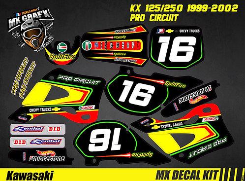 Kit Déco Moto pour / Mx Decal Kit for KAWASAKI KX - PRO CIRCUIT