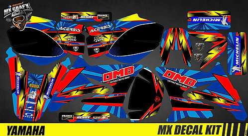 Kit Déco Moto pour / Mx Decal Kit for Yamaha DT 50 - OMB