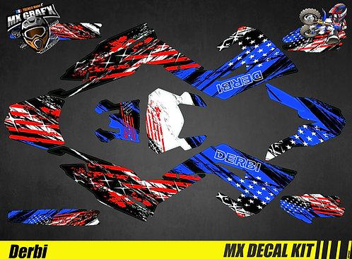 Kit Déco Moto pour / Mx Decal Kit for Derbi - US FORCE