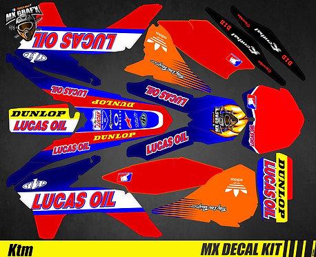 Kit Déco Moto pour / Mx Decal Kit for KTM - Lucas_Oil
