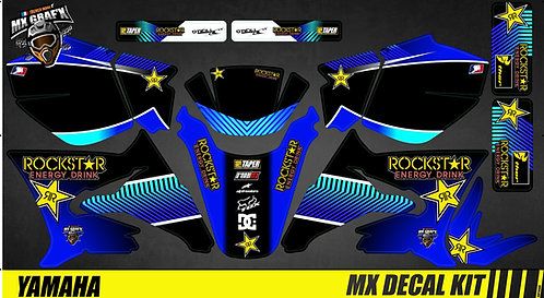 Kit Déco Moto pour / Mx Decal Kit for Yamaha DT 50 - Rockstar_Stripped