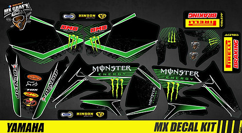 Kit Déco Moto pour / Mx Decal Kit for Yamaha DT 50 - Monster_2