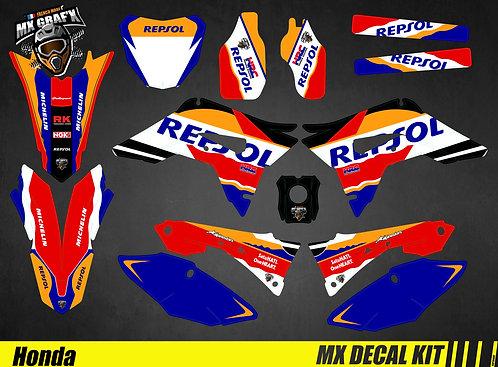 Kit Déco Moto pour / Mx Decal Kit for Honda CR/CRF - Repsol_Rallye