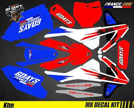Kit Déco Moto pour / Mx Decal Kit for KTM - 6_Days_France_2018
