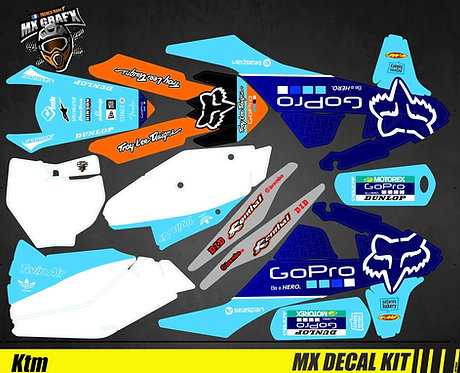 Kit Déco Moto pour / Mx Decal Kit for KTM - GoPro_Blue_Edition_Fox