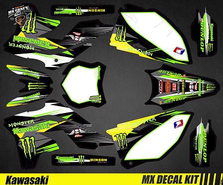 Kit Déco Moto pour / Mx Decal Kit for Kawasaki - Monster_2