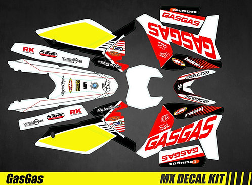 Kit Déco Moto pour / Mx Decal Kit for Gas Gas - Racing