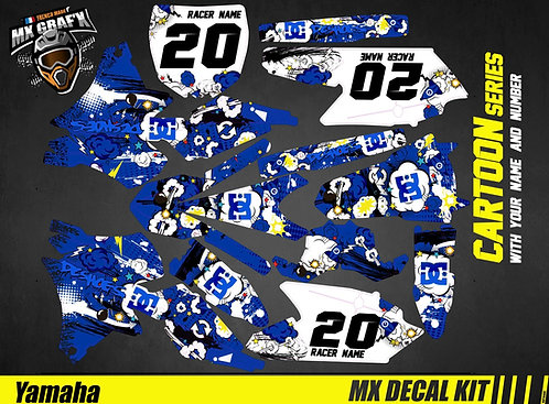Kit Déco Moto pour / Mx Decal Kit for Yamaha - Cartoon