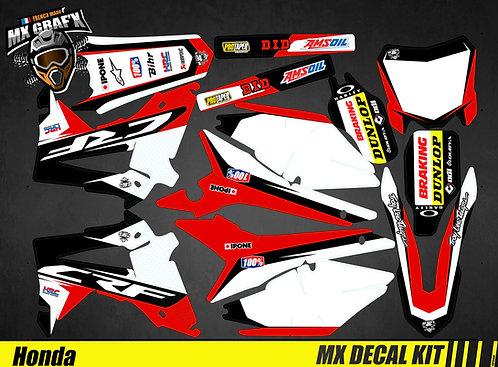 Kit Déco Moto pour / Mx Decal Kit for Honda CR/CRF - Black