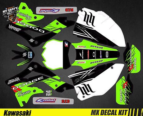 Kit Déco Moto pour / Mx Decal Kit for Kawasaki - Dodge