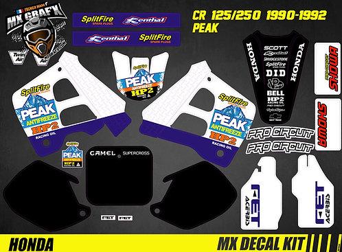 Kit Déco Moto pour / Mx Decal Kit for HONDA CR - PEAK