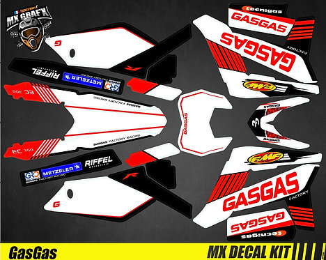 Kit Déco Moto pour / Mx Decal Kit for Gas Gas - Replica_Guillaume_2012