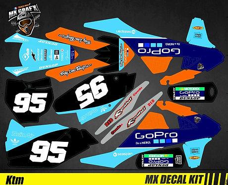 Kit Déco Moto pour / Mx Decal Kit for KTM - Troy_Lee
