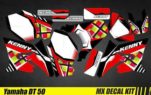 Kit Déco Moto pour / Mx Decal Kit for Yamaha DT 50 - Kenny