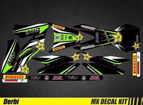 Kit Déco Moto pour / Mx Decal Kit for Derbi - Bud