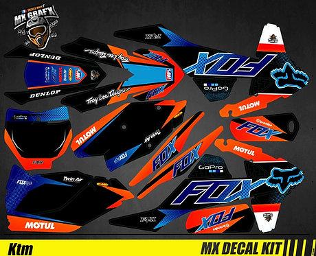 Kit Déco Moto pour / Mx Decal Kit for KTM - Fox_Edition