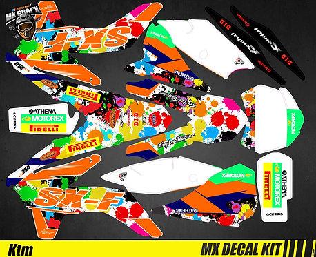 Kit Déco Moto pour / Mx Decal Kit for KTM - Splatoon