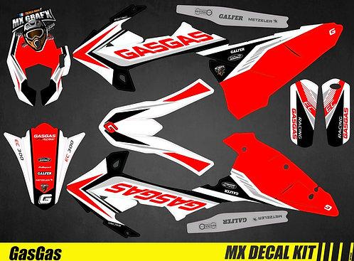 Kit Déco Moto pour / Mx Decal Kit for Gas Gas - Replica_2017