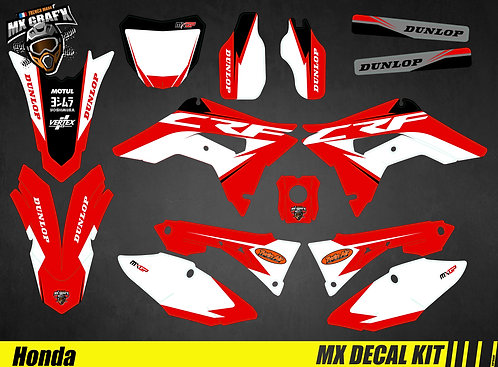 Kit Déco Moto pour / Mx Decal Kit for Honda CR/CRF - Red