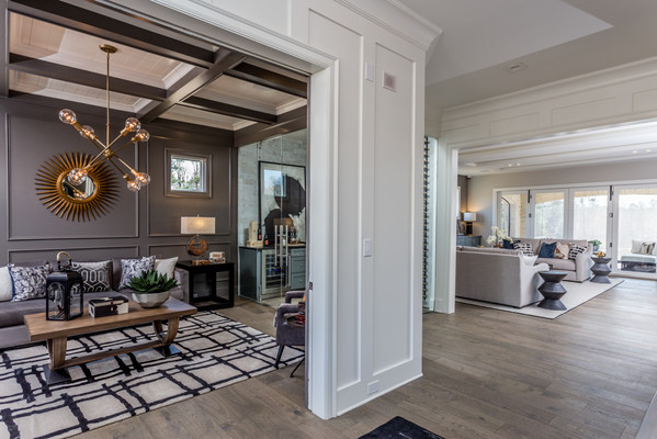 Unique designs for each living space create rooms out of an open interior. With everything in full view, guests are encouraged to explore the different areas.