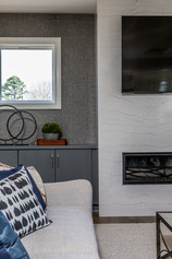 Linear Fireplace Detail