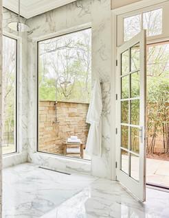 Master Suite Indoor and Outdoor Shower