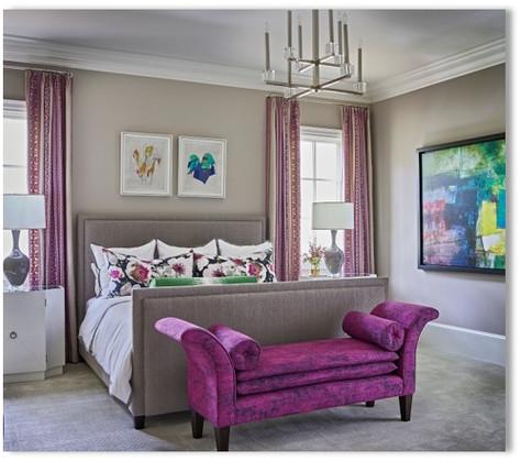 Guest Bedroom - The Purple Room