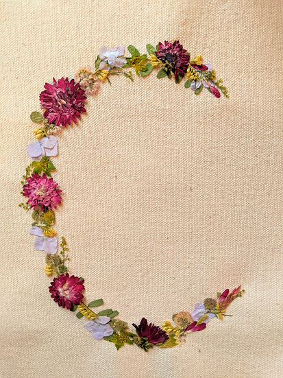 Pressed Flower Initial