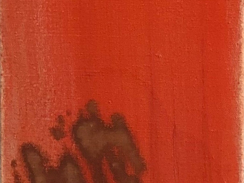 October; oil on canvas; 60 x 12 in; 2018