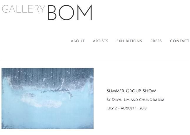 Summer Group Show at Gallery BOM