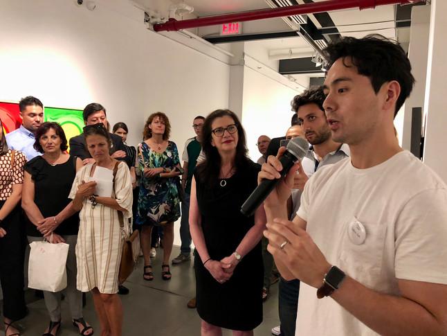 Opening reception at Agora