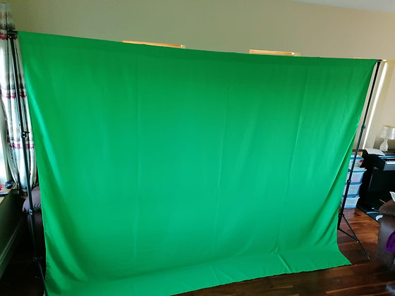 Green Screen Backdrop - 3m wide x 2m tall